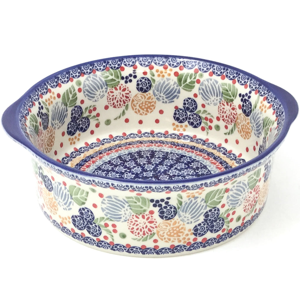 Polish Pottery Deep Round Baker