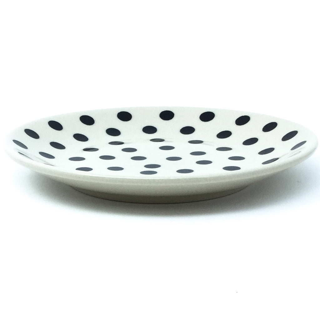 Bread & Butter Plate in Black Polka-Dot