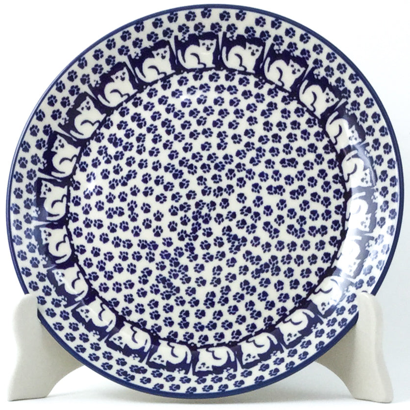 Luncheon Plate in Blue Cats