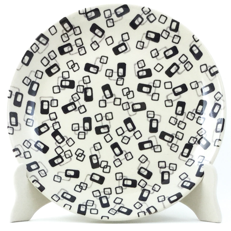 Luncheon Plate in Modern Gray & Black