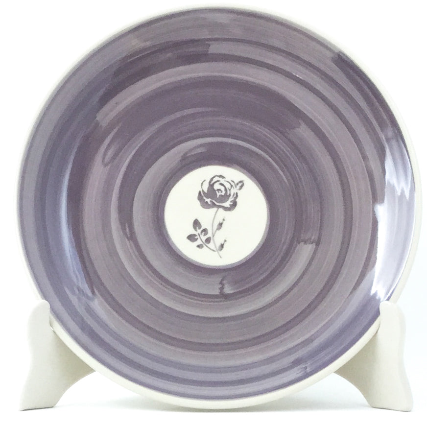 Luncheon Plate in Gray Rose