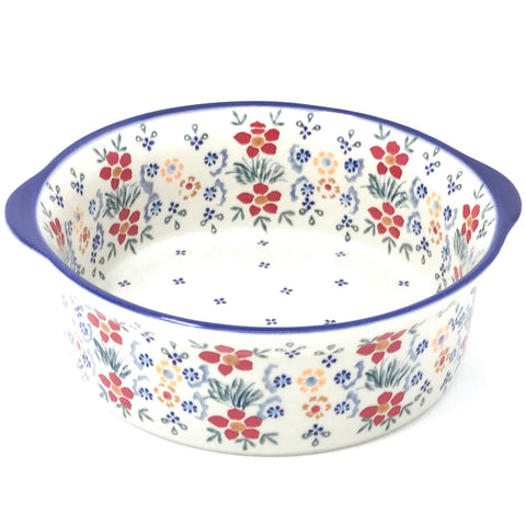 Deep Round Baker in Delicate Flowers