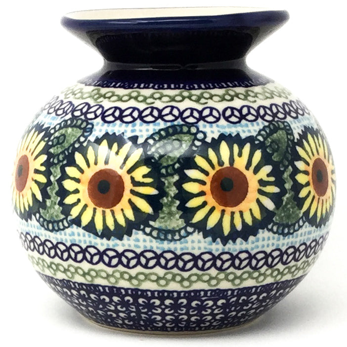 Round Vase in Sunflowers