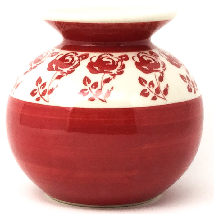 Round Vase in Red Rose