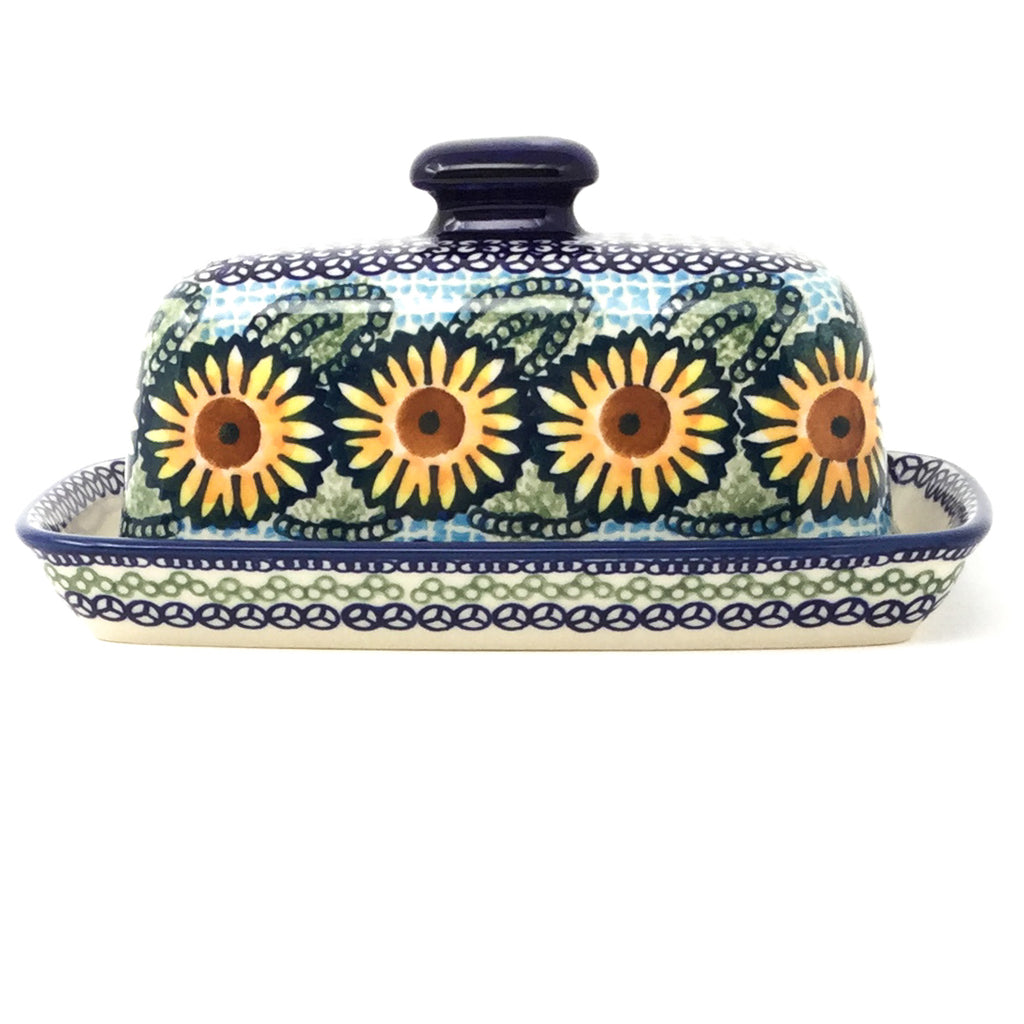 Butter Dish in Sunflowers