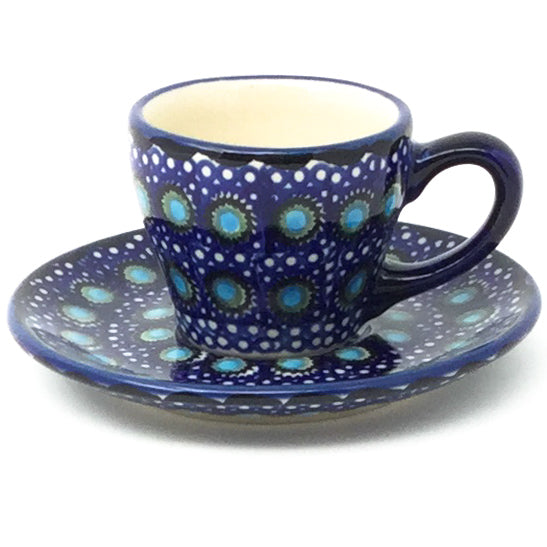 Espresso Cup w/Saucer 2 oz in Blue Moon