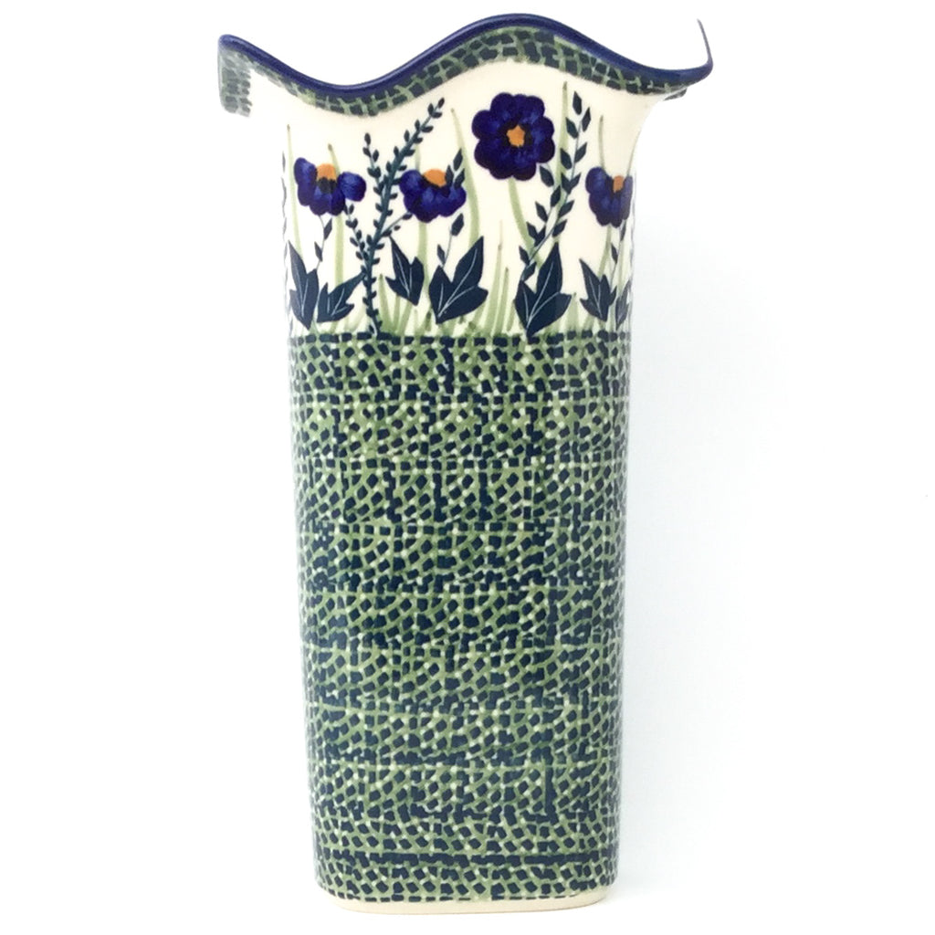 Fluted Vase in Wild Blue