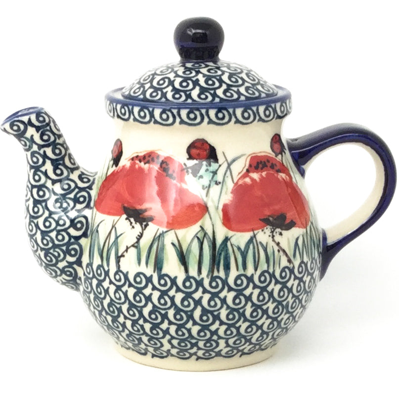 Night Time Teapot 12 oz in Polish Poppy