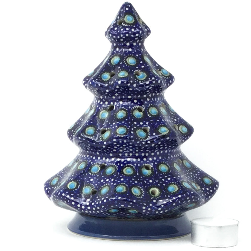 Tree Tea Candle Holder in Blue Moon