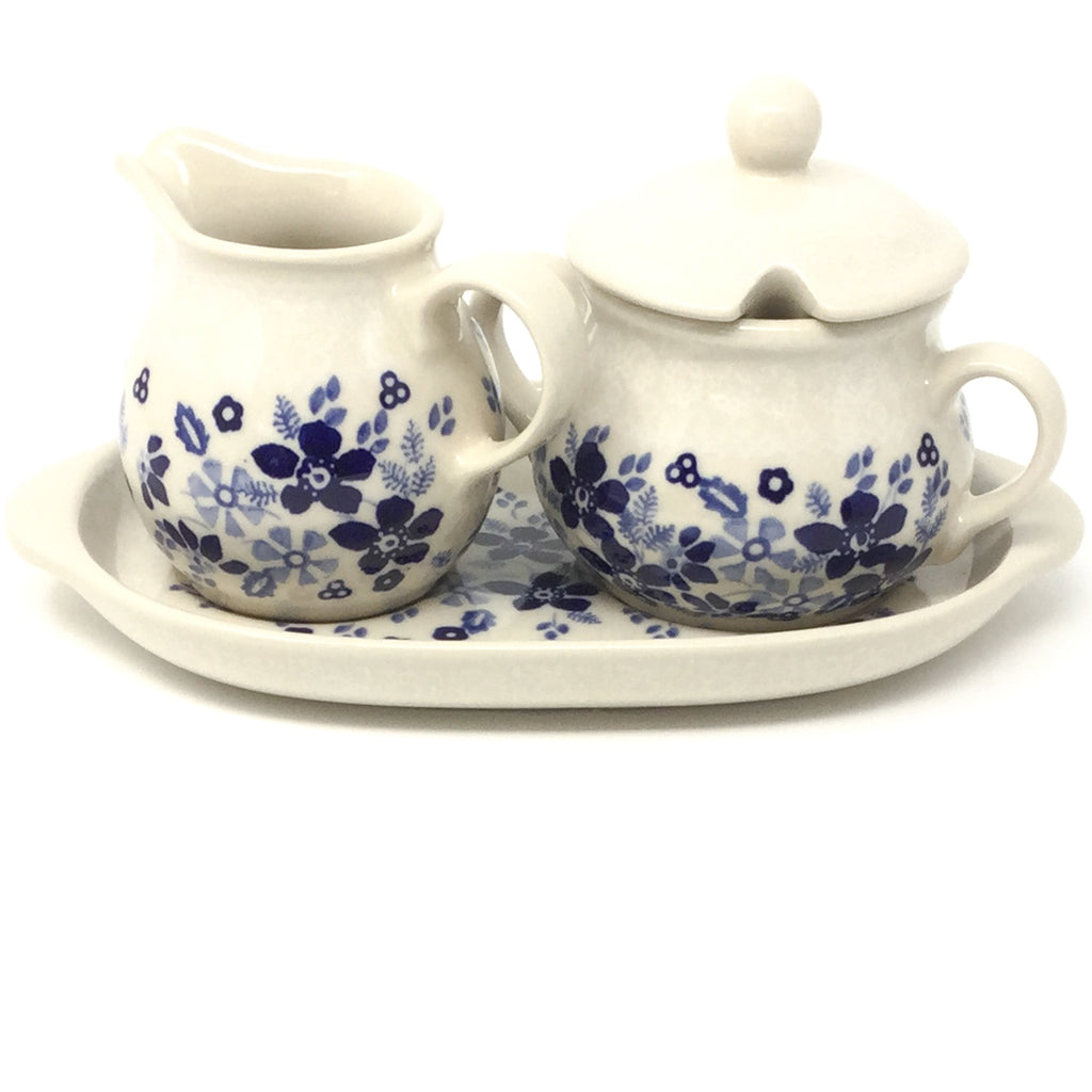 Creamer & Sugar Set w/Tray in Morning Wedding