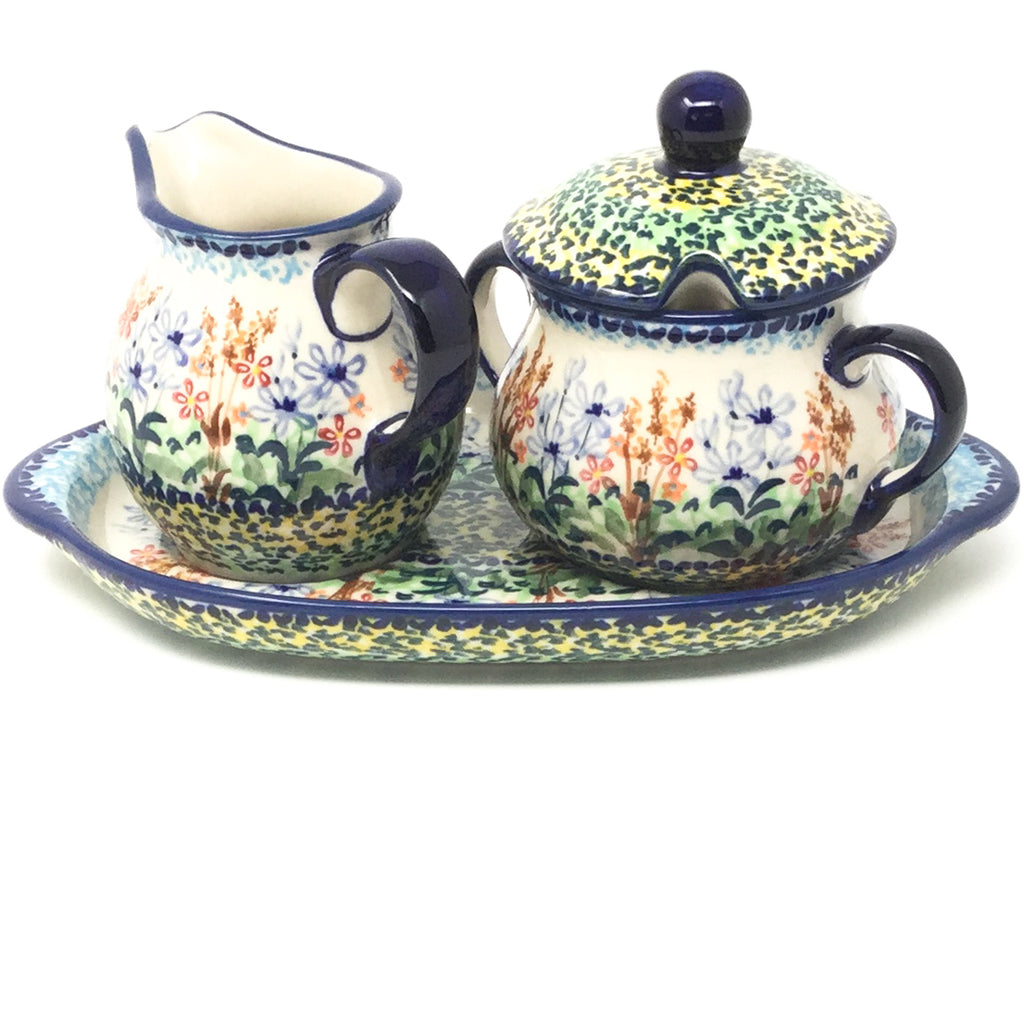 Creamer & Sugar Set w/Tray in Country Spring
