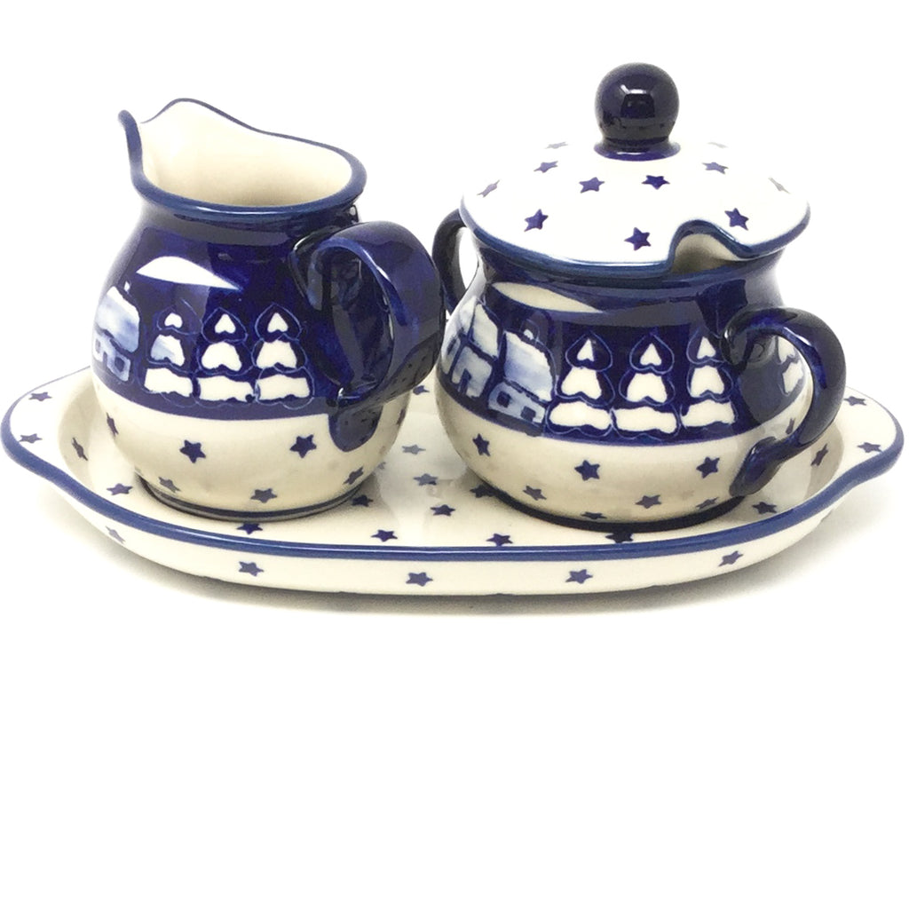 Creamer & Sugar Set w/Tray in Winter