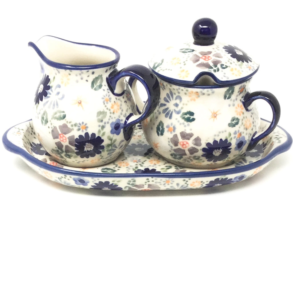 Creamer & Sugar Set w/Tray in Morning Breeze