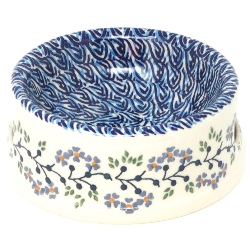 Sm Dog or Cat Bowl in Blue Meadow