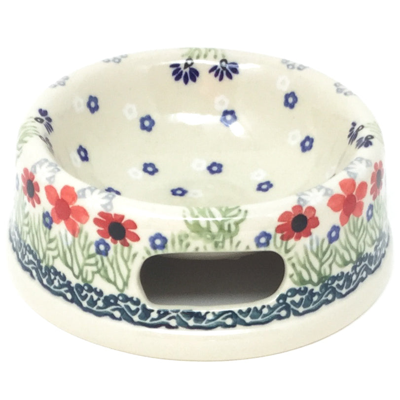 Sm Dog or Cat Bowl in Dill Flowers
