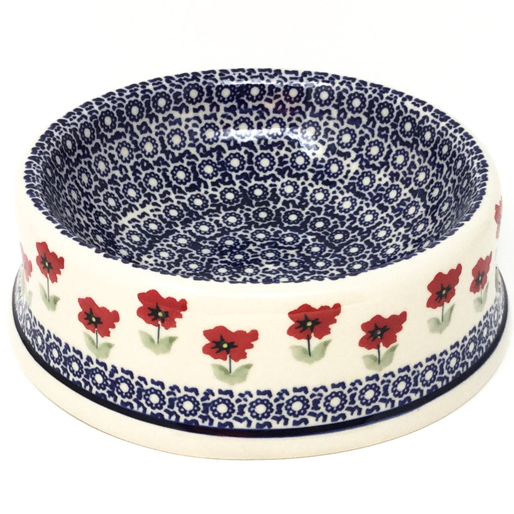 Md Dog Bowl in Red Daisy