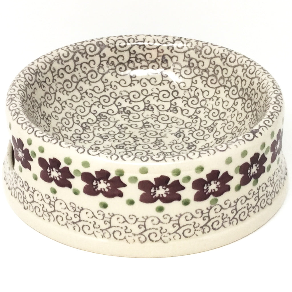 Md Dog Bowl in Purple & Gray Flowers