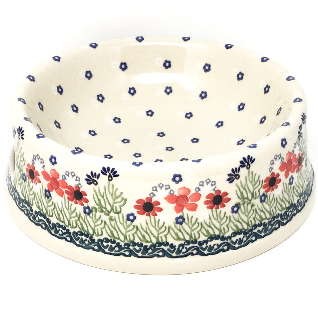 Lg Dog Bowl in Dill Flowers