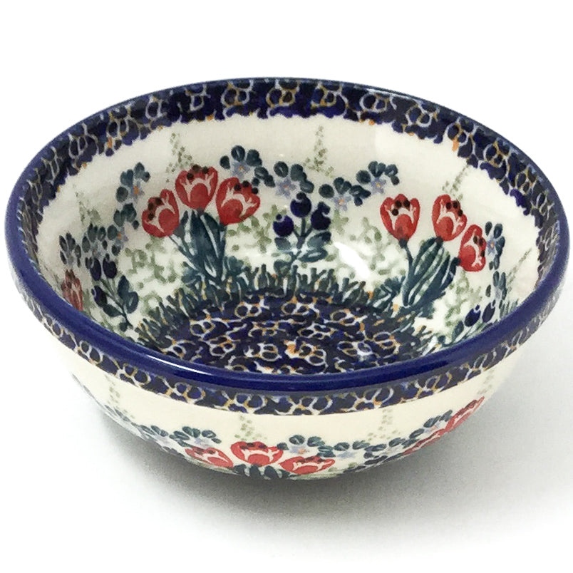 Dessert Bowl 16 oz in Red Tulips
