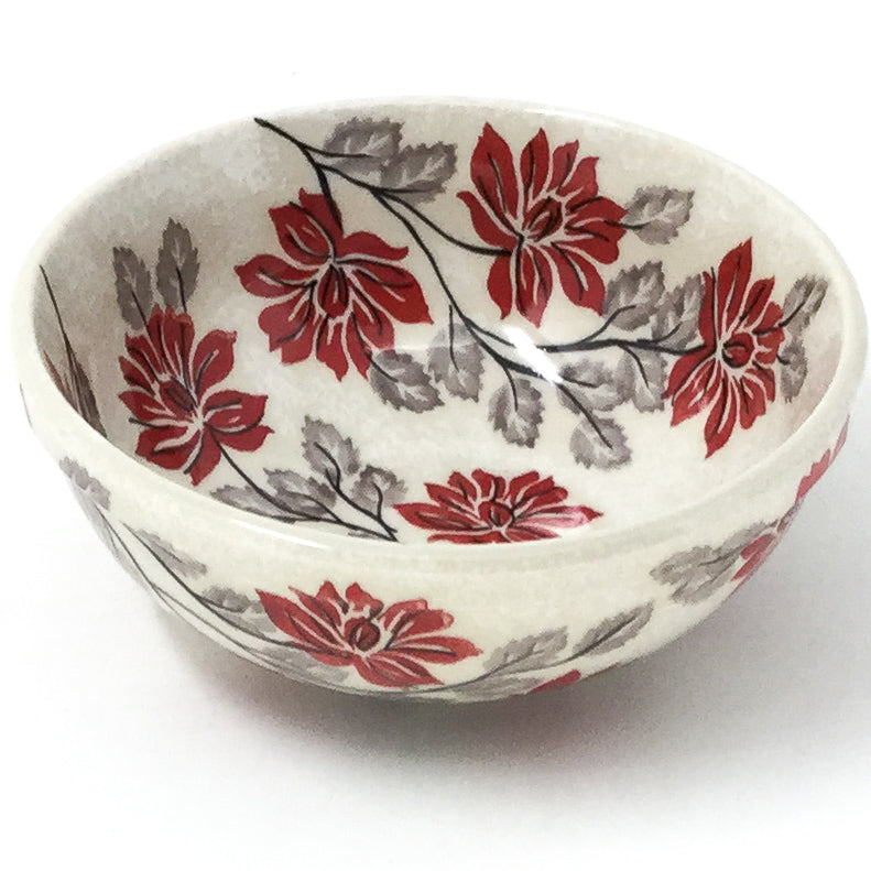 Dessert Bowl 16 oz in Red & Gray