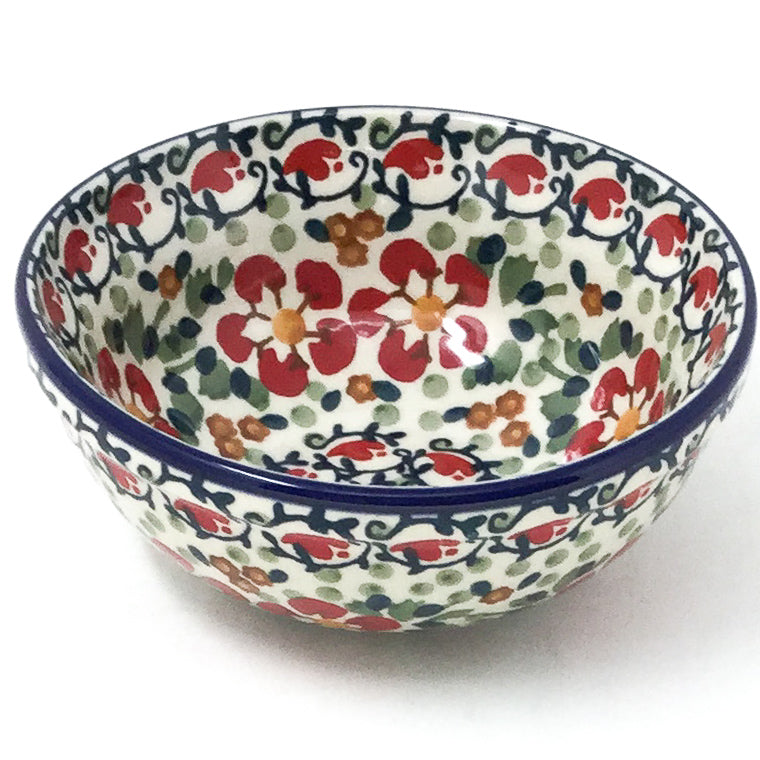 Dessert Bowl 12 oz in Red Poppies