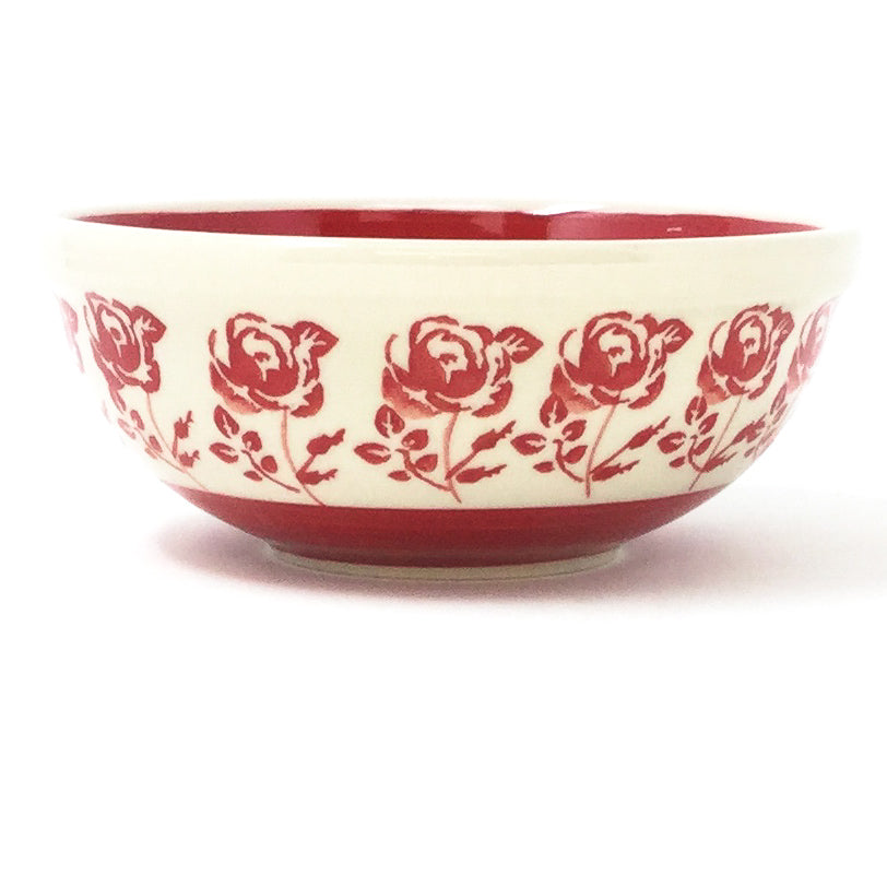 Dessert Bowl 12 oz in Red Rose