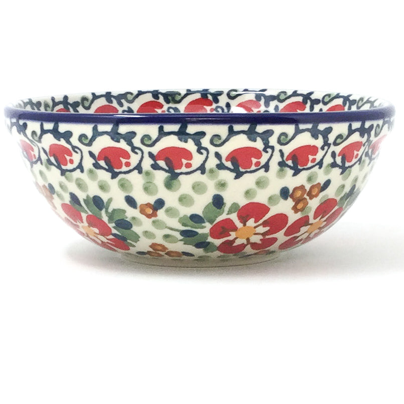 Dessert Bowl 16 oz in Red Poppies