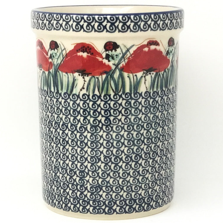 Utensil Holder 2 qt in Polish Poppy