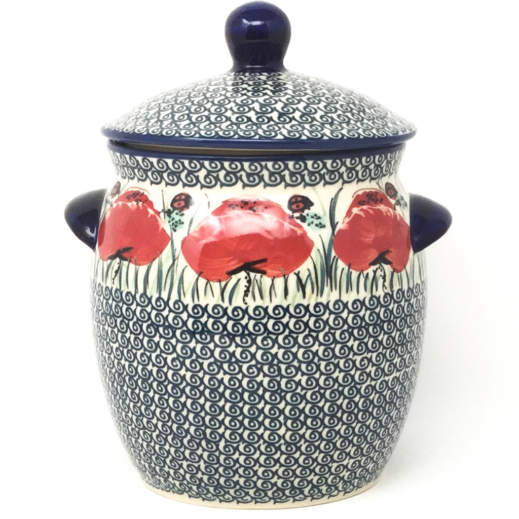 Md Canister w/Handles in Polish Poppy