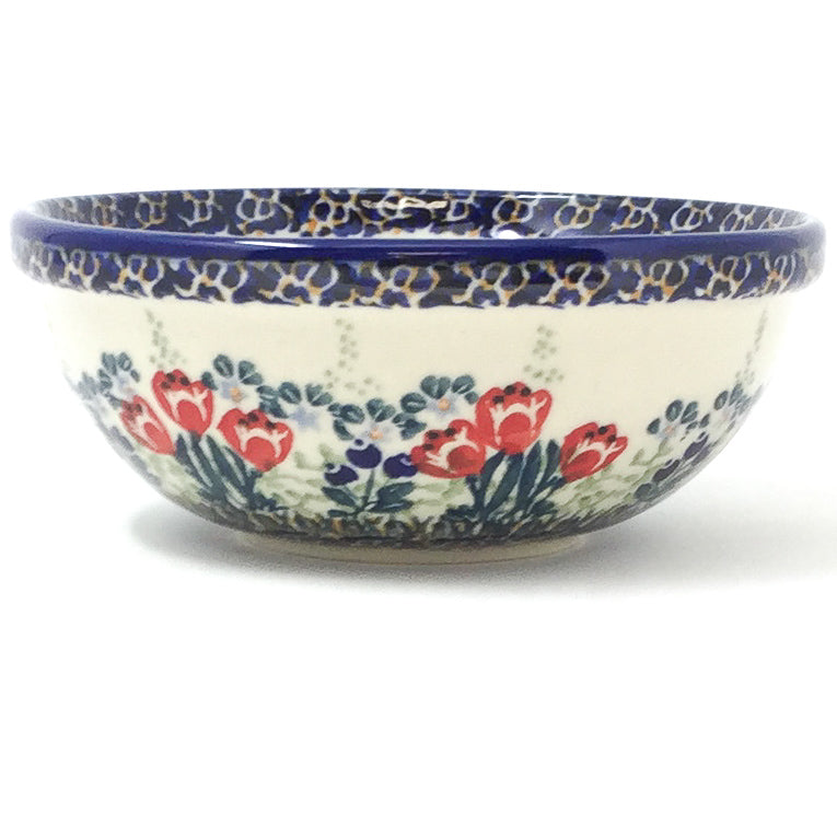 Dessert Bowl 12 oz in Red Tulips