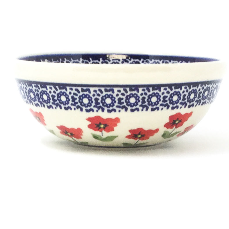 Dessert Bowl 12 oz in Red Daisy
