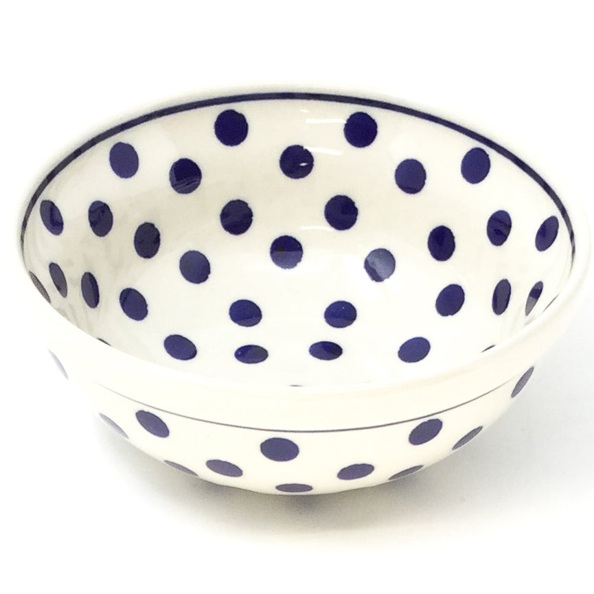 Dessert Bowl 12 oz in Blue Polka-Dot