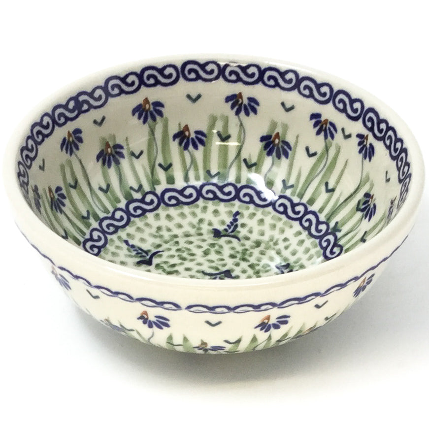 Dessert Bowl 12 oz in Blue & Green Flowers