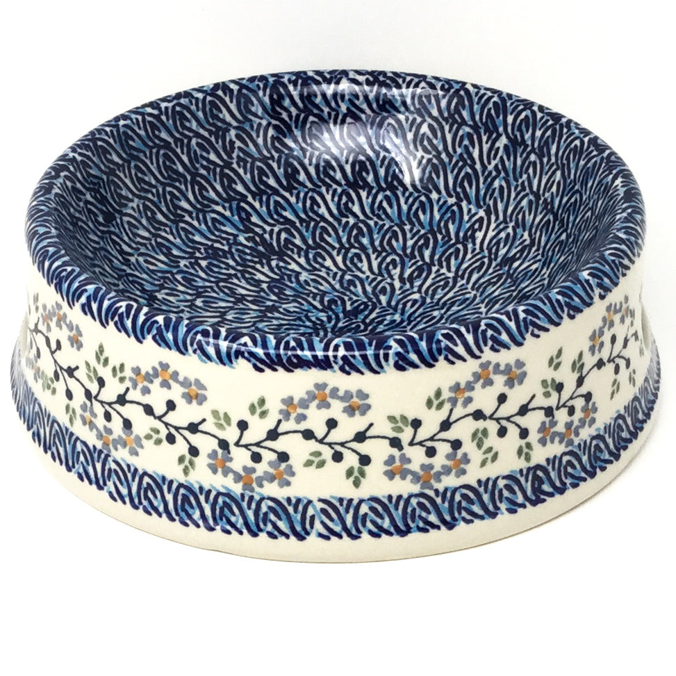 Lg Dog Bowl in Blue Meadow