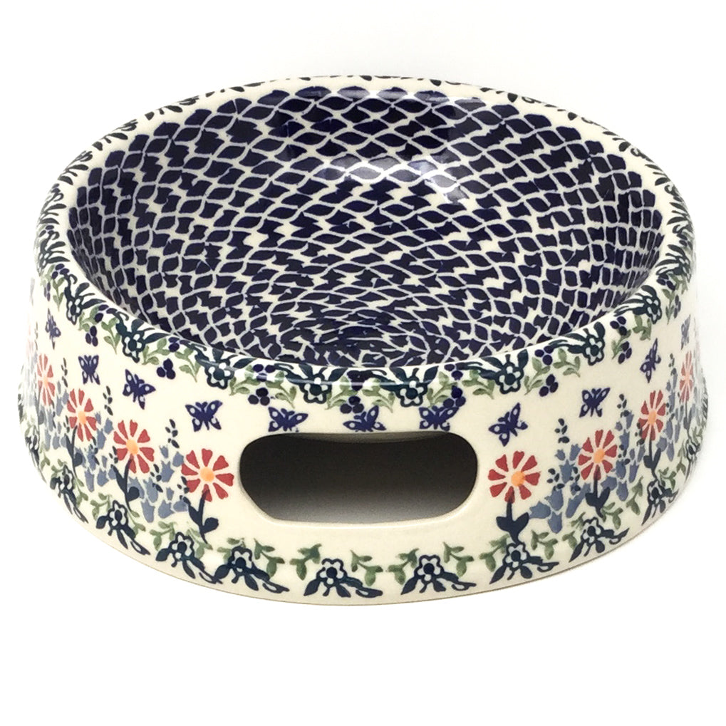 Lg Dog Bowl in Wavy Flowers