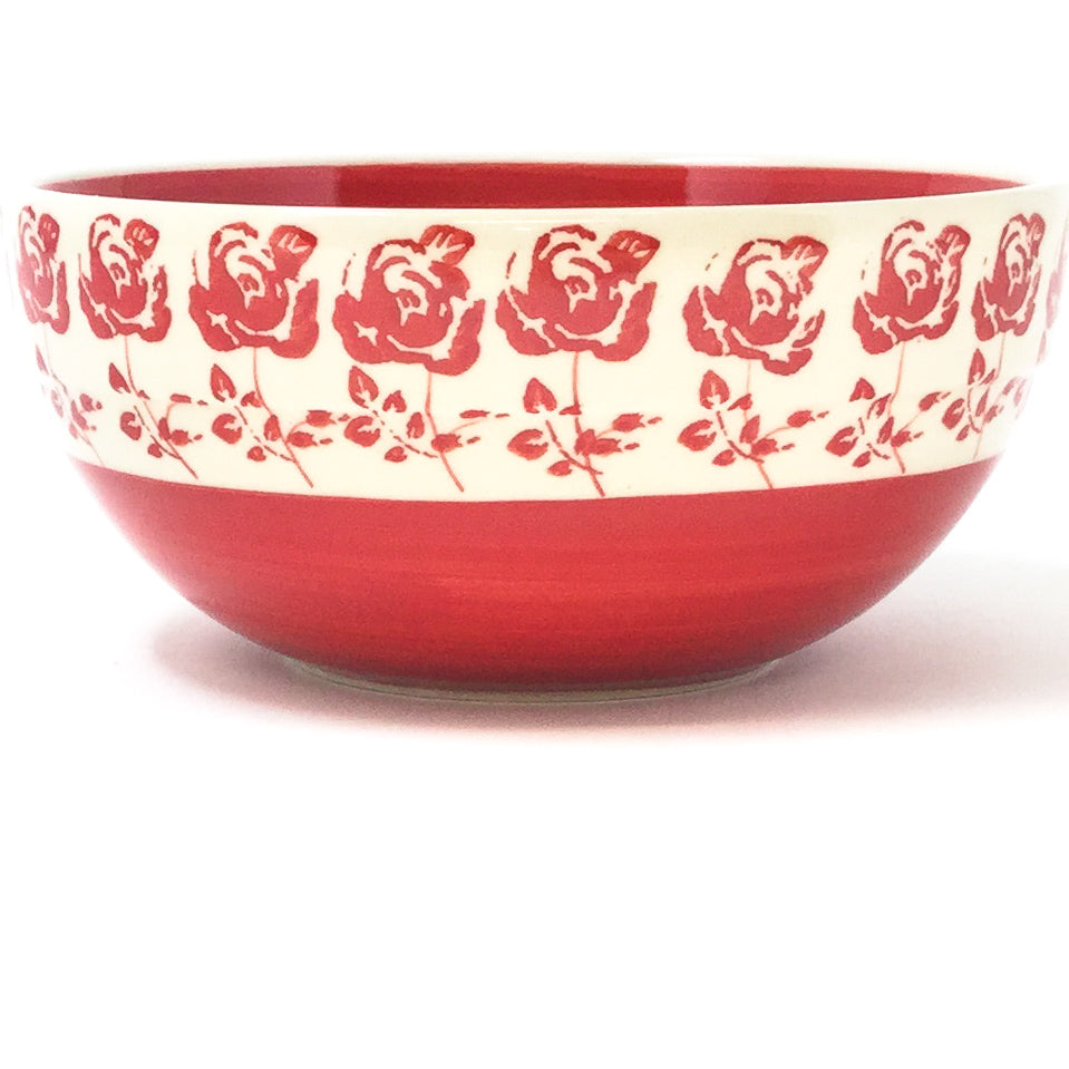 Soup Bowl 24 oz in Red Rose
