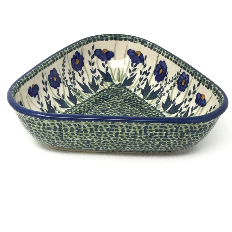 "Triangular Bowl 8"" in Wild Blue"