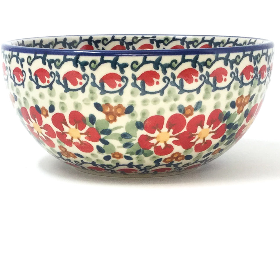 Soup Bowl 24 oz in Red Poppies