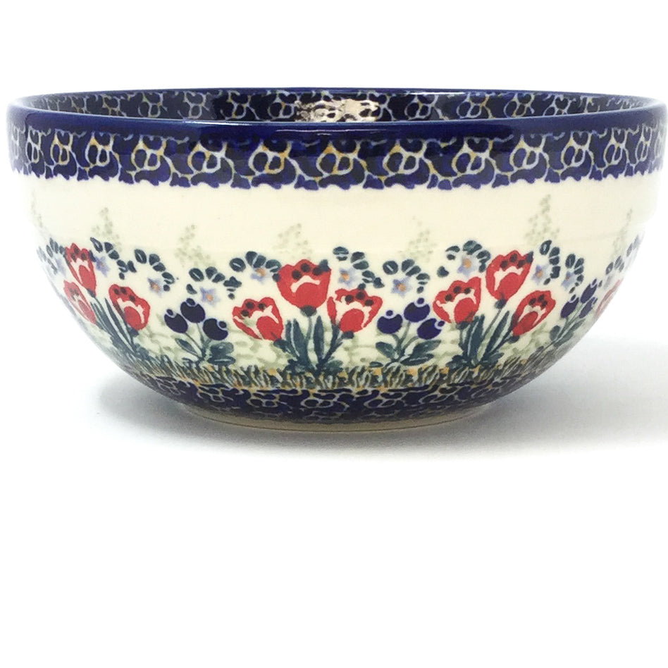 Soup Bowl 24 oz in Red Tulips