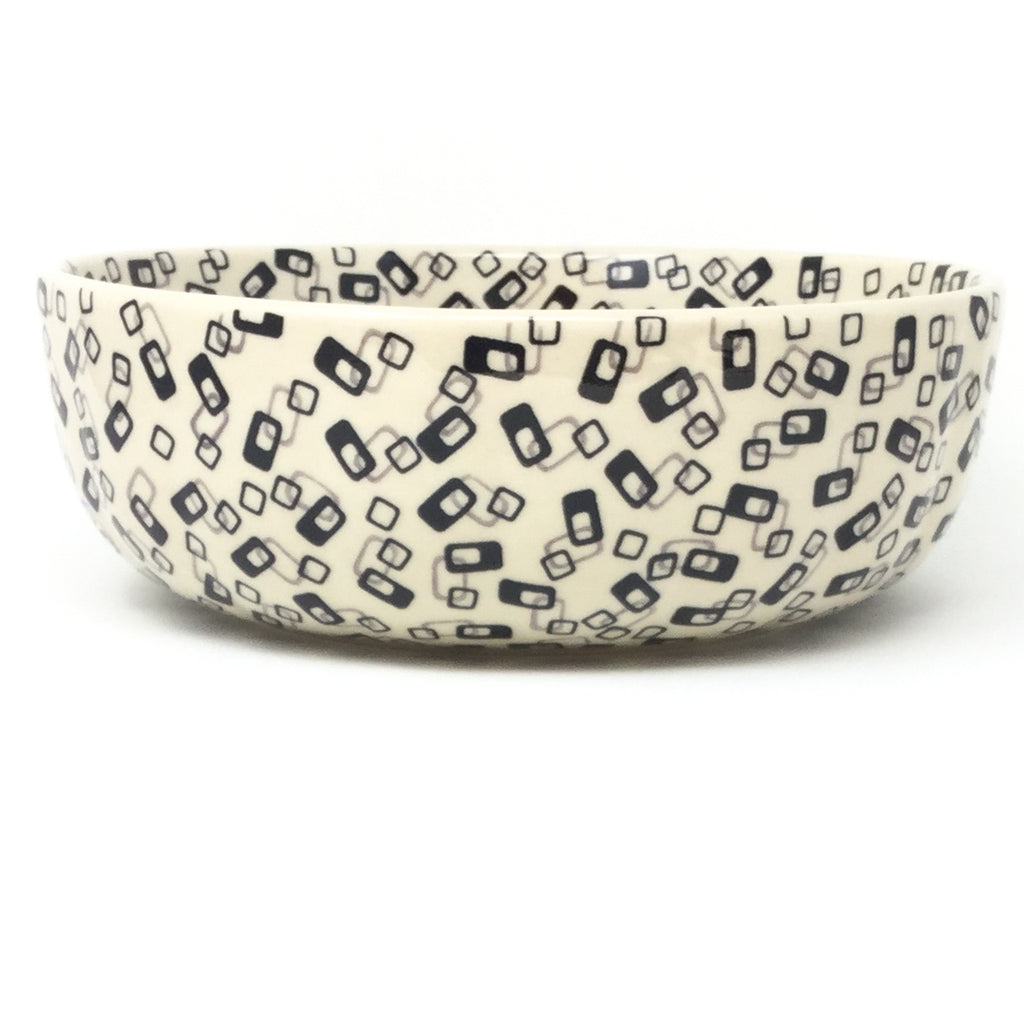 Family Shallow Bowl in Modern Gray & Black