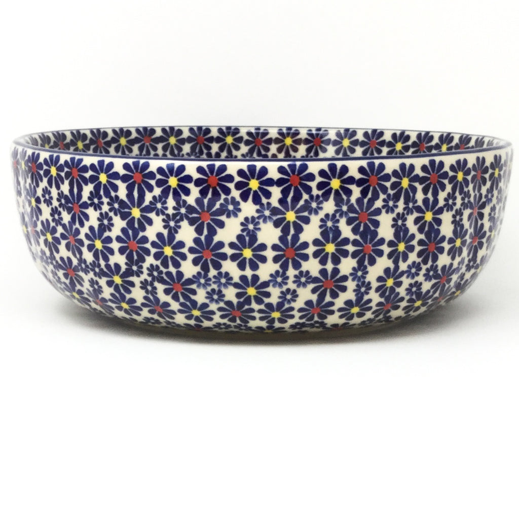 Family Shallow Bowl in Flowers on White
