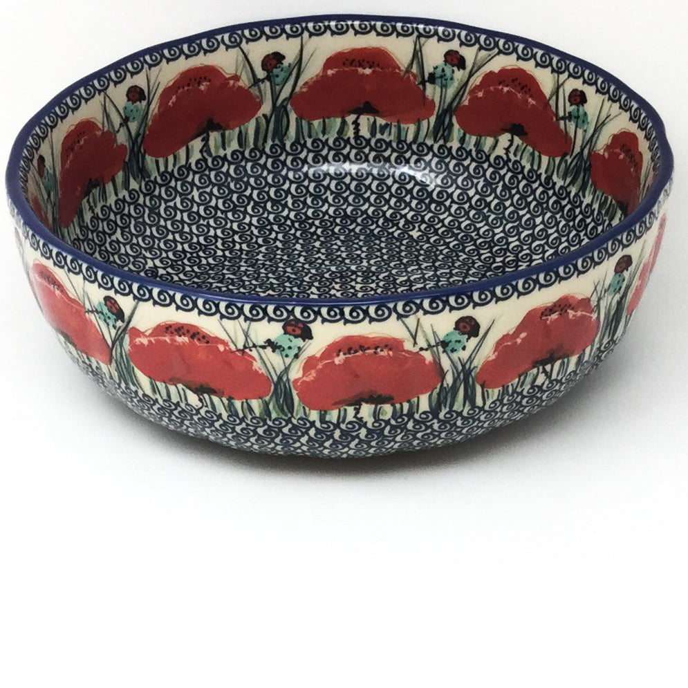 Family Shallow Bowl in Polish Poppy