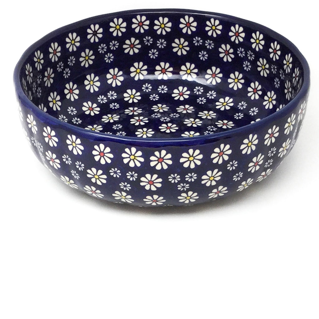 Family Shallow Bowl in Flowers on Blue