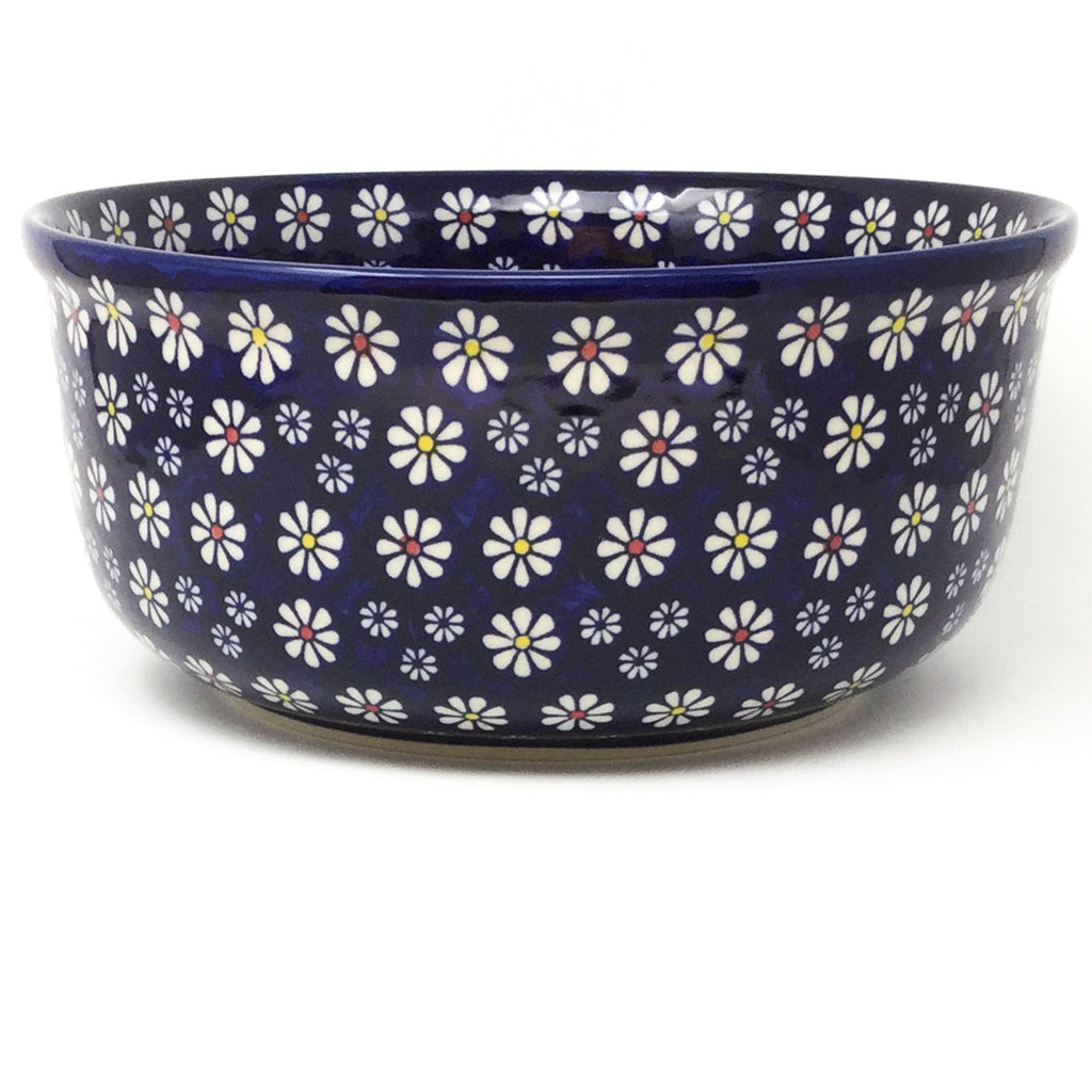 Family Deep Bowl in Flowers on Blue