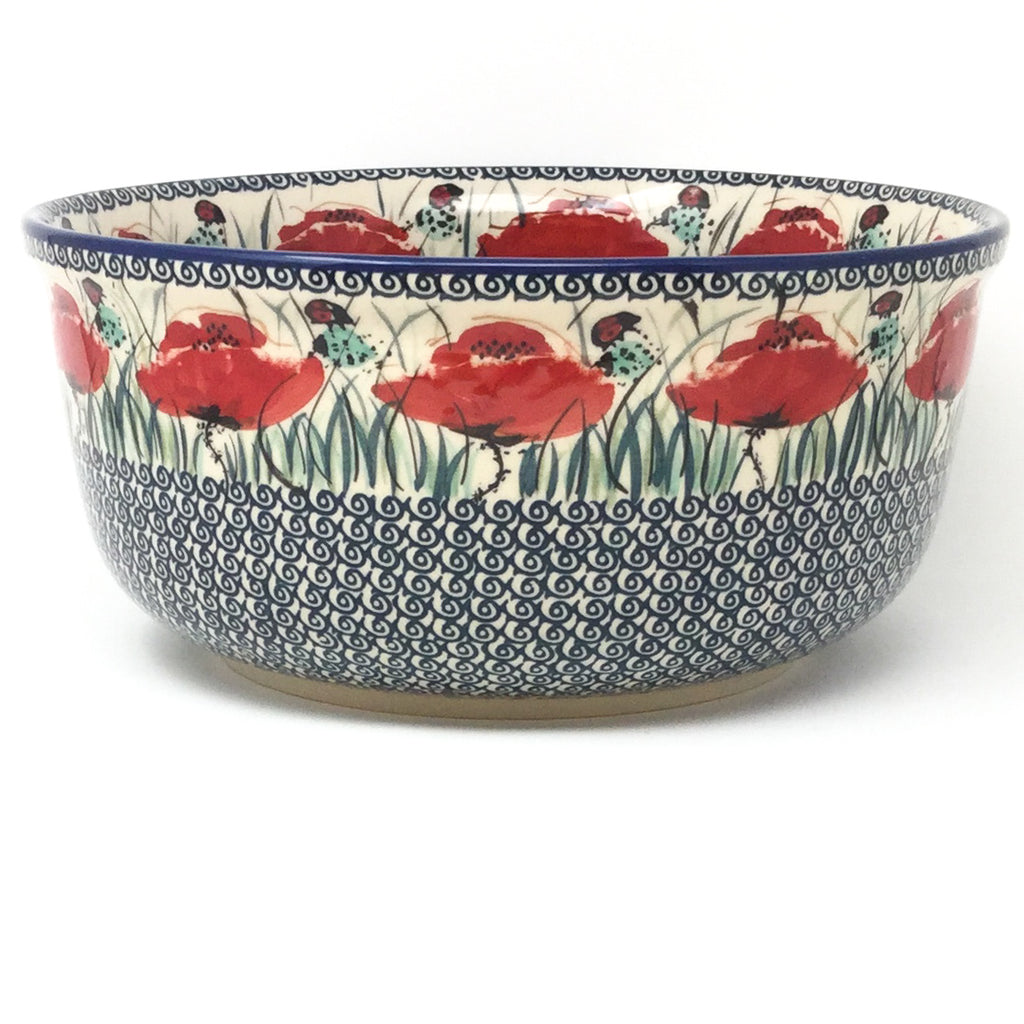 Family Deep Bowl in Polish Poppy