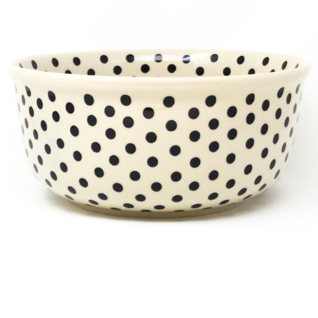Family Deep Bowl in Black Polka-Dot