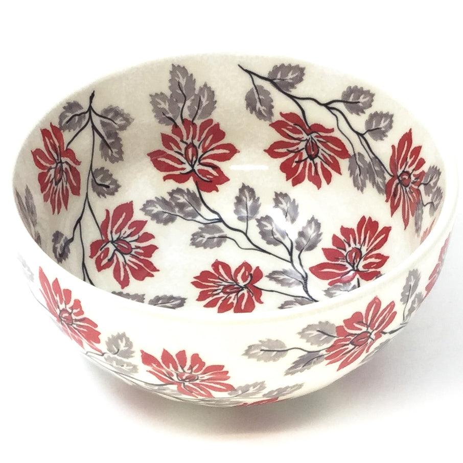 Soup Bowl 24 oz in Red & Gray