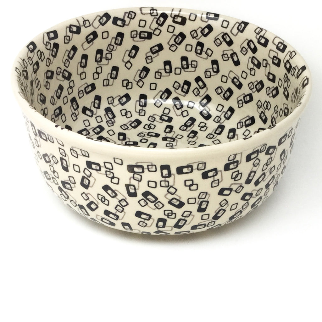 Family Deep Bowl in Modern Gray & Black