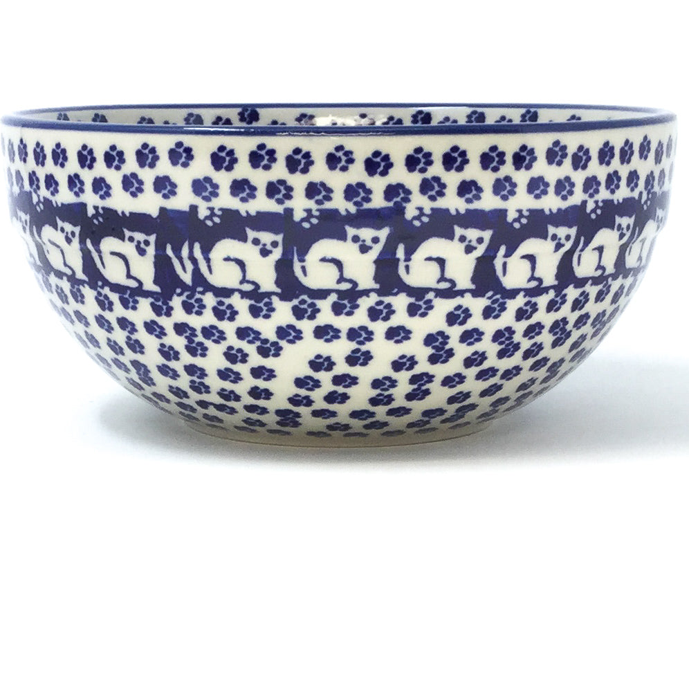 Soup Bowl 24 oz in Blue Cats