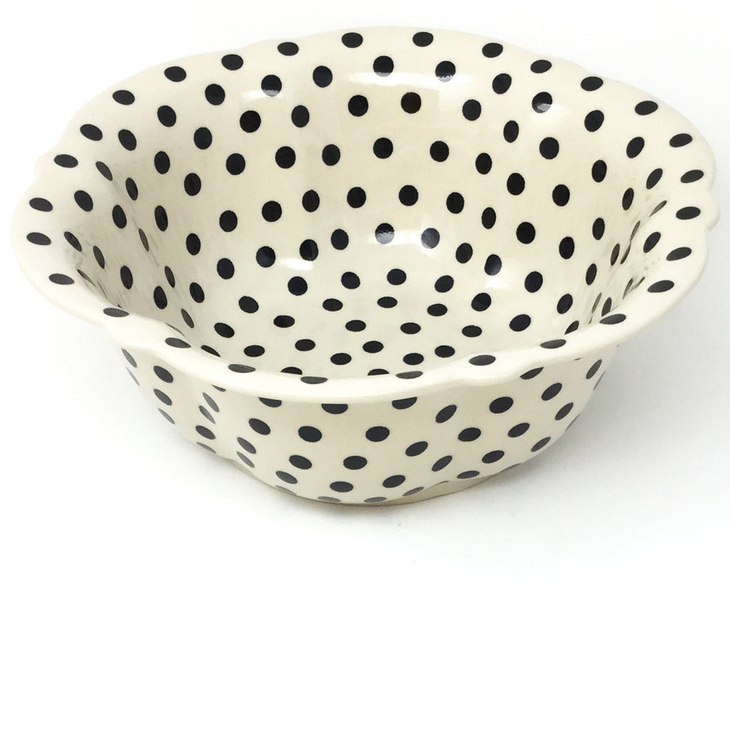 Md Retro Bowl in Black Polka-Dot
